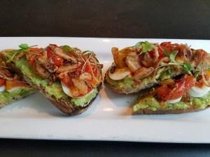 Avocado Toast- Brunch Menu at Grassroots eatery