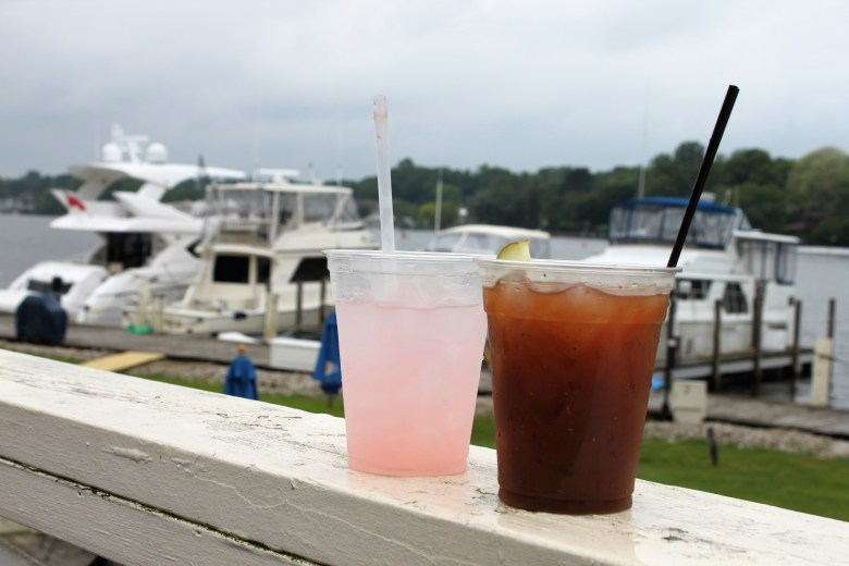 downtown saugatuck, cute town with shops, boats and art