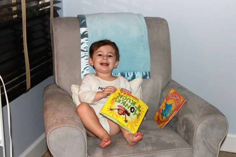 our nighttime routine toddler glider