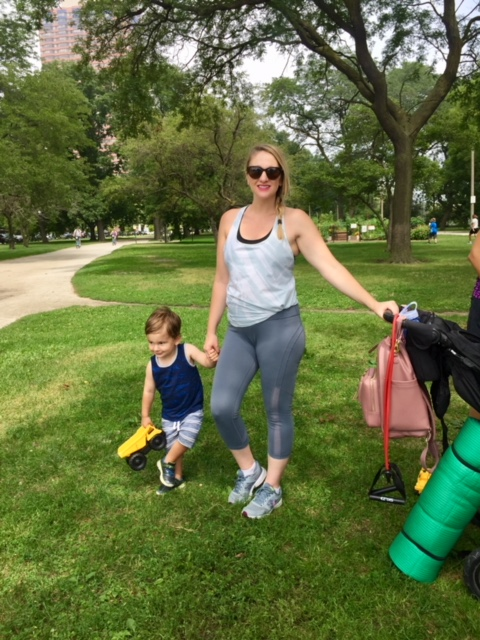 Stroller Strides with fit4mom in Chicago