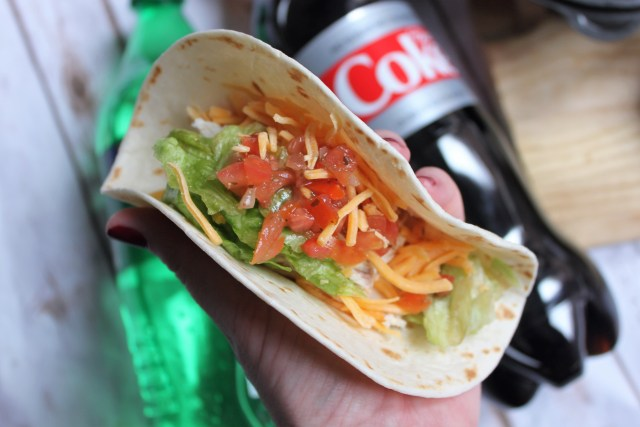Jewel-Osco rotisserie chicken can make for a great taco bar for any party.