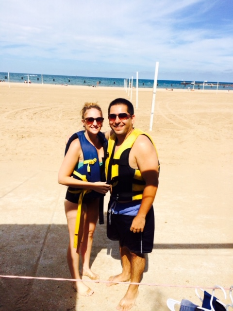 Renting jet skis on Lake Michigan is such a fun summer outing
