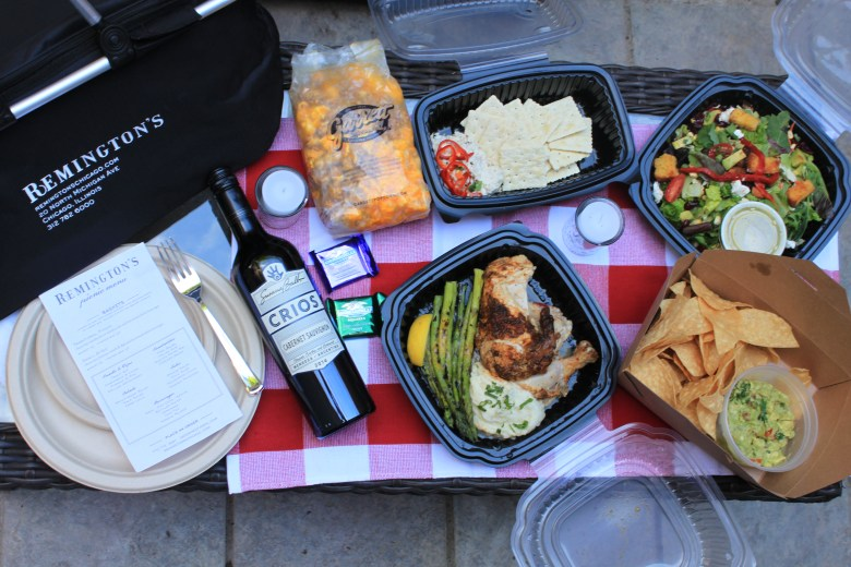 Picnic basket from Remington's Chicago is perfect for concerts at Millenium Park