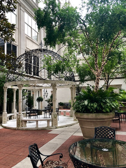 The Ritz Carlton is a beautiful building with great food, top notch service and the best experience for a couples trip. This courtyard is stunning.