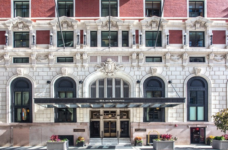 The Blackstone hotel in Chicago has beautiful architecture and available to tour during Open House Chicago