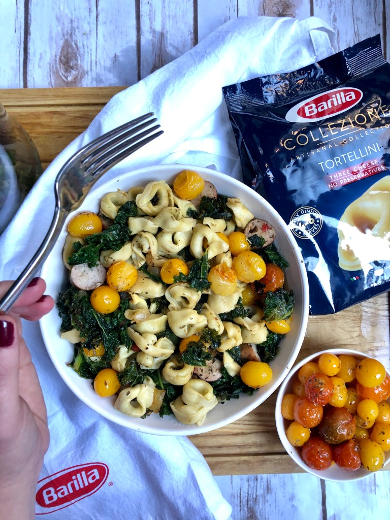 Barilla® Collezione 3 Cheese Tortellini is a restaurant style pasta made at home! This is an easy recipe to make on any weeknight.
