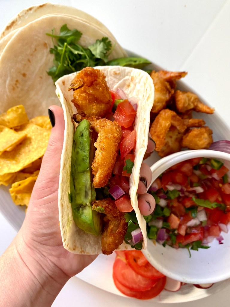 Shrimp tacos are an easy weeknight meal