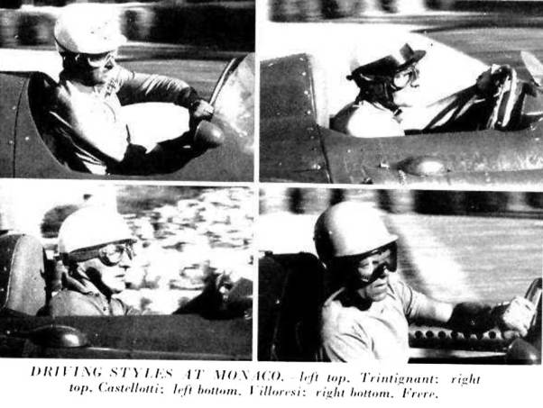 Driving Styles at Monaco. 1955.