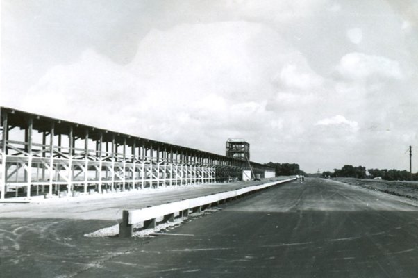 Meadowdale Main Straight and Pits Under Construction
