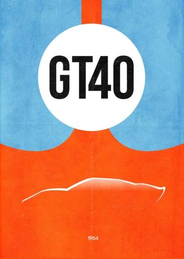 Dean Walton's GT40 Poster