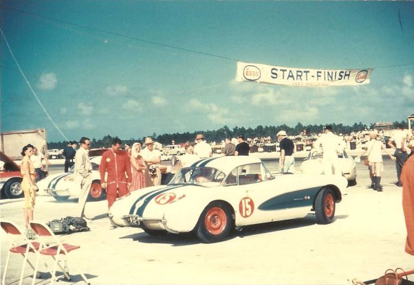 Dick Thompson's Corvette at the 1965 Nassau Speed Week