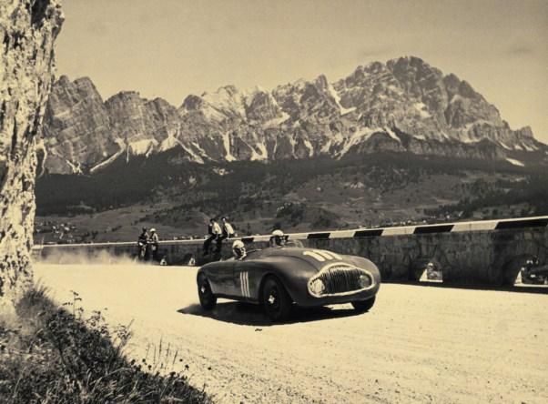 Supremo Montanari's Stanguellini S1100 at the 1950 Coppa d'Oro Dolomiti