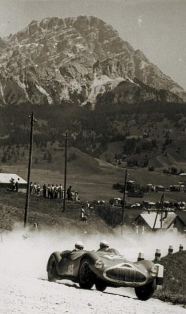 Sergio Sighinolfi's Stanguellini S1100 at the 1950 Coppa d'Oro Dolomiti