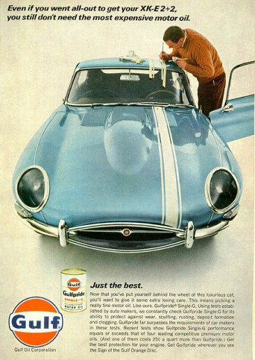 Jaguar Gulf Oil Ad