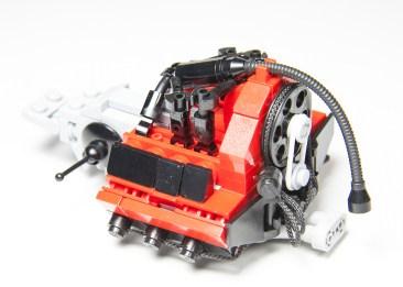 Malte Dorowski's Lego Martini Porsche 911 Carrera RSR Engine