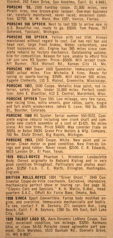 Porsche 550s for sale
