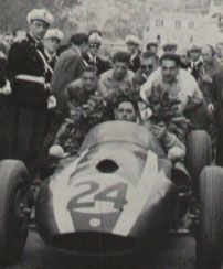 Jack Brabham's victory celebration at Monaco 59