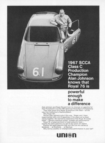 1967 Union 76 Racing Ad.