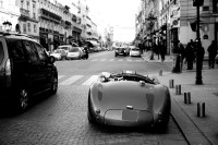 """From another world"" - Jaguar Type C, rue de la Paix, Paris."