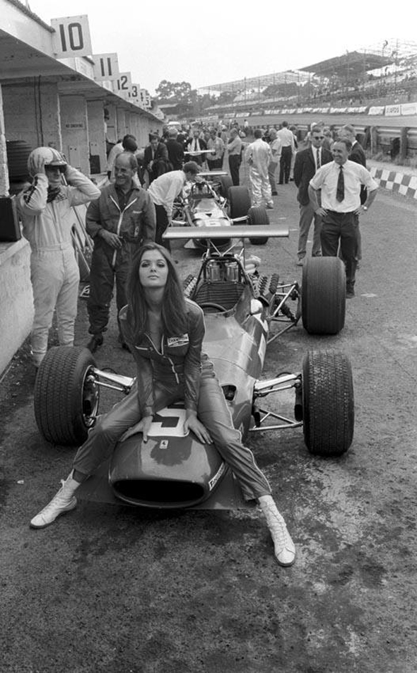 Chris Amon's Ferrari at the '68 British Grand Prix
