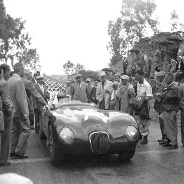 1953 Jaguar C-Type at the Targa