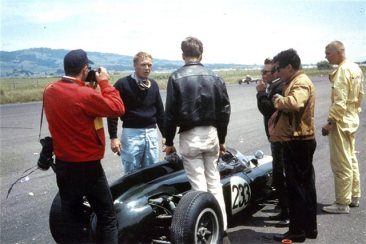 Steve McQueen and his 1961 Cooper T56 Formula Junior