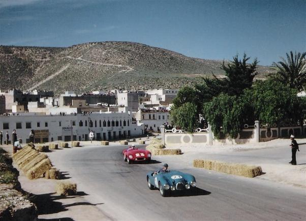 Andre Guelfi's Gordini T15S at the 1955 Gran Prix d'Agadir