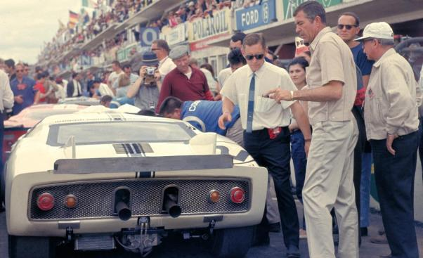 Carroll Shelby at the 1965 24 Hours of LeMans