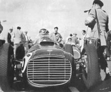 José Froilan Gonzalez lines up a BRM 1952 Woodcote Trophy. Goodwood.