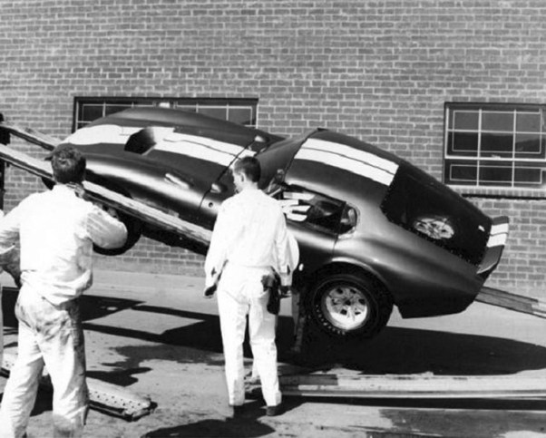 Shelby Daytona falling off the Transporter