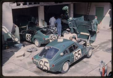 Factory Triumphs at Hotel de France garages