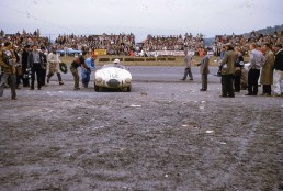 Frank Bott's OSCA in the 1954 Watkins Glen Queen Catherine Cup by Jack Holliday