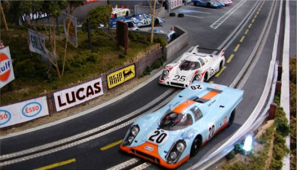 Slot Mods' Porsche 917 slot car table