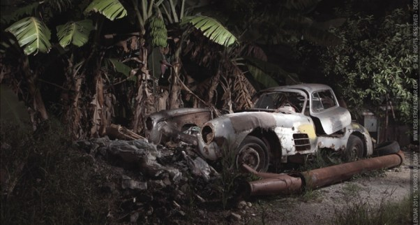 Abandoned Gullwing Mercedes in Cuba