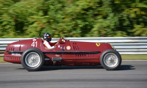 Peter Greenfield in a 1935 Alfa Romeo 8C by Robert Ristuccia
