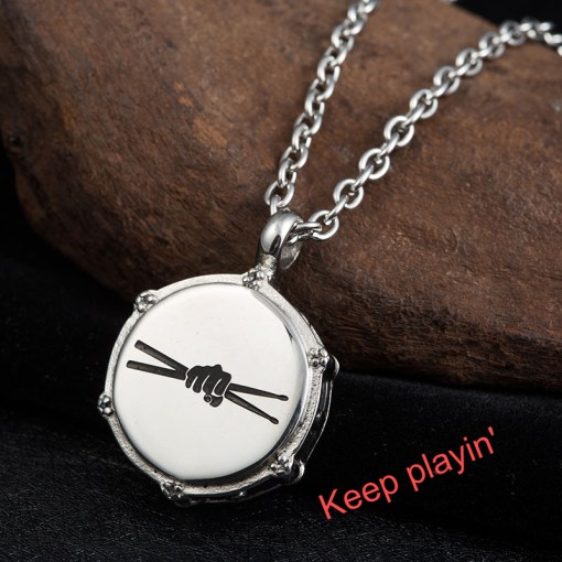 Pendant Necklace for Musician Drummer's