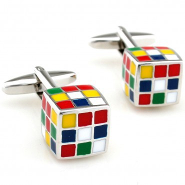 Stylish Enamel Cufflinks