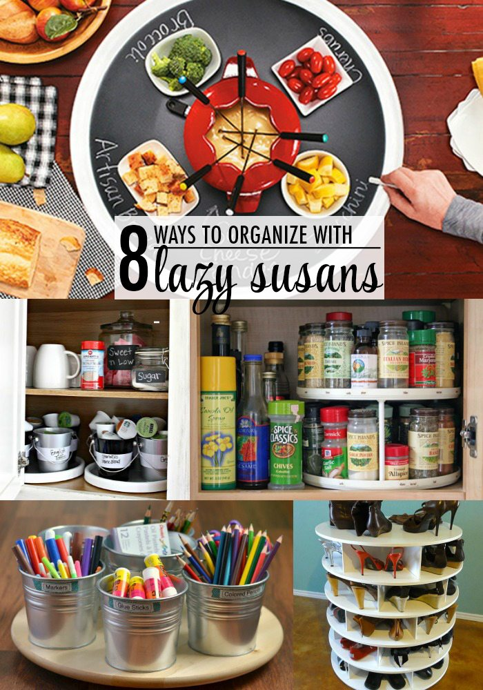 8 Ways to Organize With Lazy Susans - The Chic Site