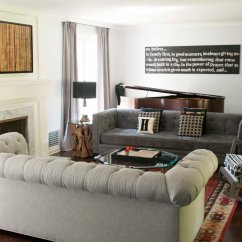 Back Of Sofa Facing Fireplace Cheap Bed Chicago Living Room Makeover The Chic Site