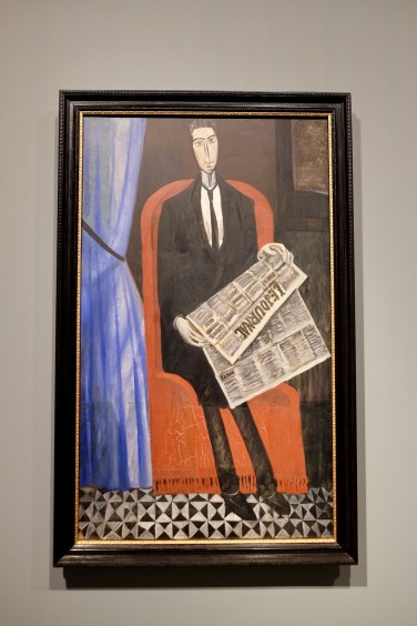 Portrait of a Man with a Newspaper by Derain Photo: Olivia Deng