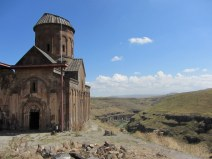 The Church of St Gregory of Tigran Honents.Dating from 1215. Armenia is on the other side of the canyon.