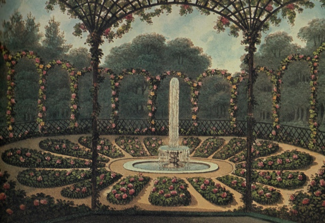 Reptons' drawing of his rosary garden