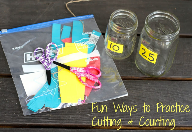 A Fun Way to Practice Cutting and Counting