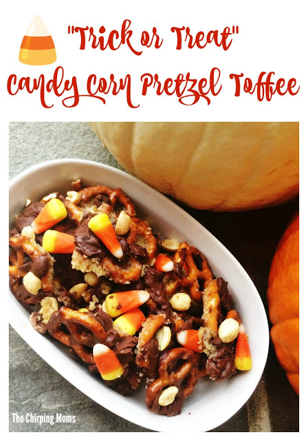 Candy Corn Pretzel Toffee    The Chirping Moms