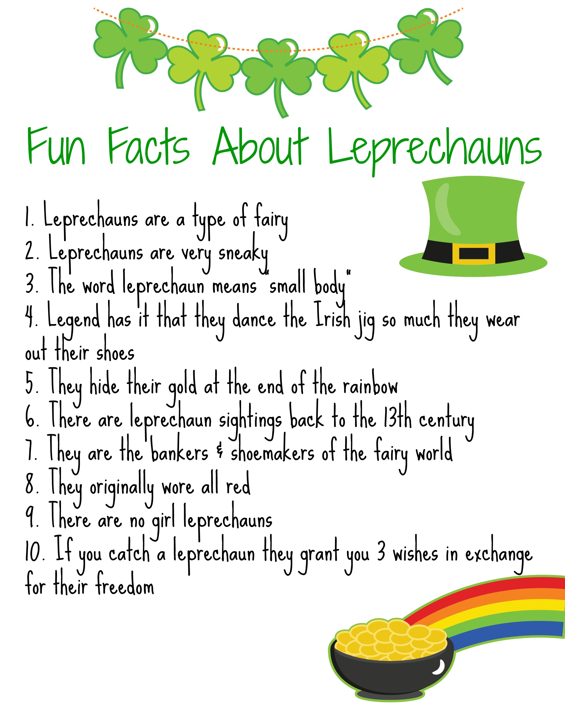 Lots Of Lucky Leprechauns Activities Books Amp Fun Facts