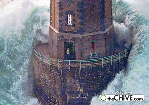 Lighthouse keeper swallowed by storm