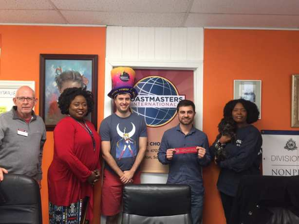 A group of people at The Choice Toastmasters club of Charleston, SC.