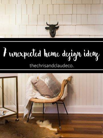 7 unexpected home design ideas on TheChrisandclaudeco.
