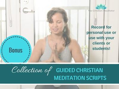 guided christian meditation scripts