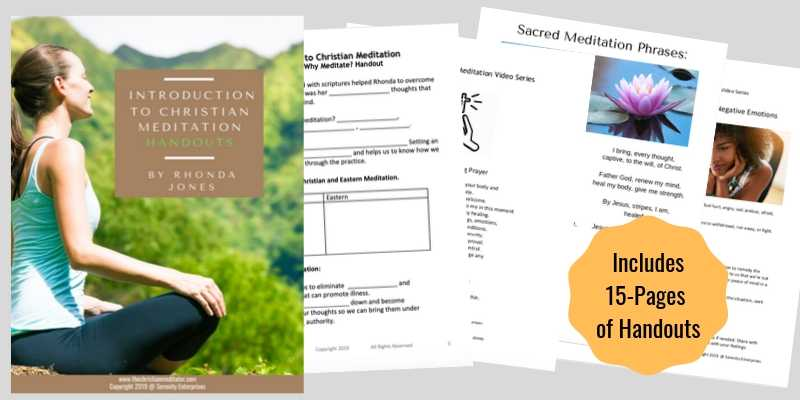 christian meditation handouts